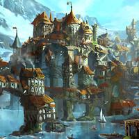 21+ Medieval Fantasy Village Art Gif