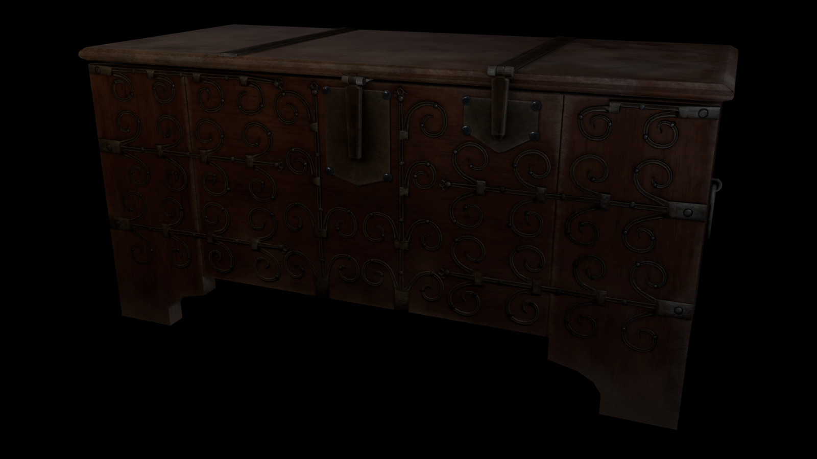 Medieval Chest, French