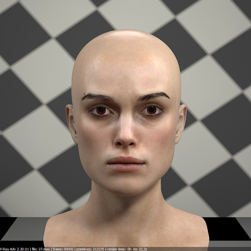 ArtStation - 3d model of Keira Knightley head, Stephan Plotnicov