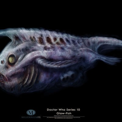 Christopher goodman doctor who series 10 alien fish high res