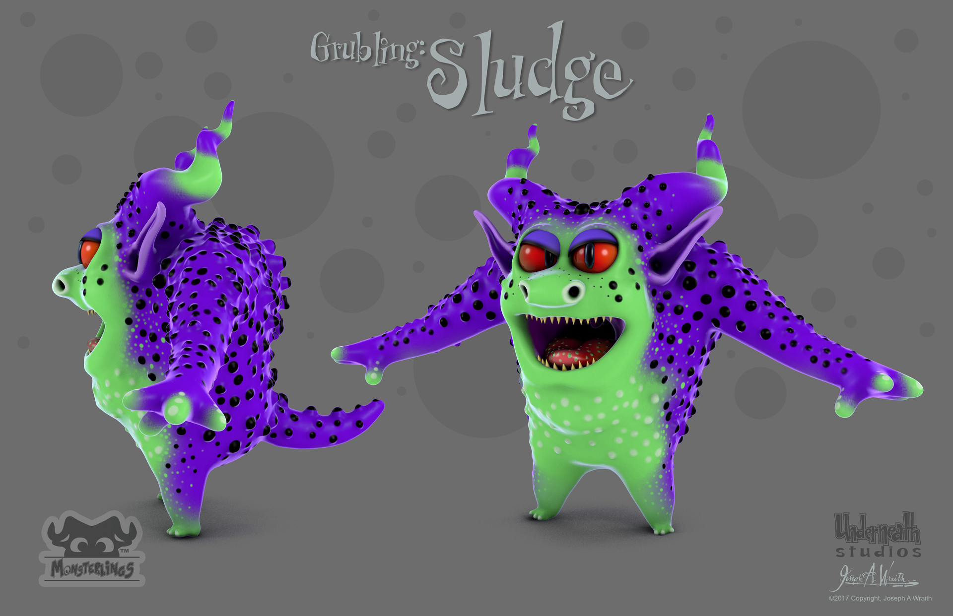 Here is another new Grubling named Sludge, he is one of Raze's henchmen and the muscle behind his dastardly ideas.