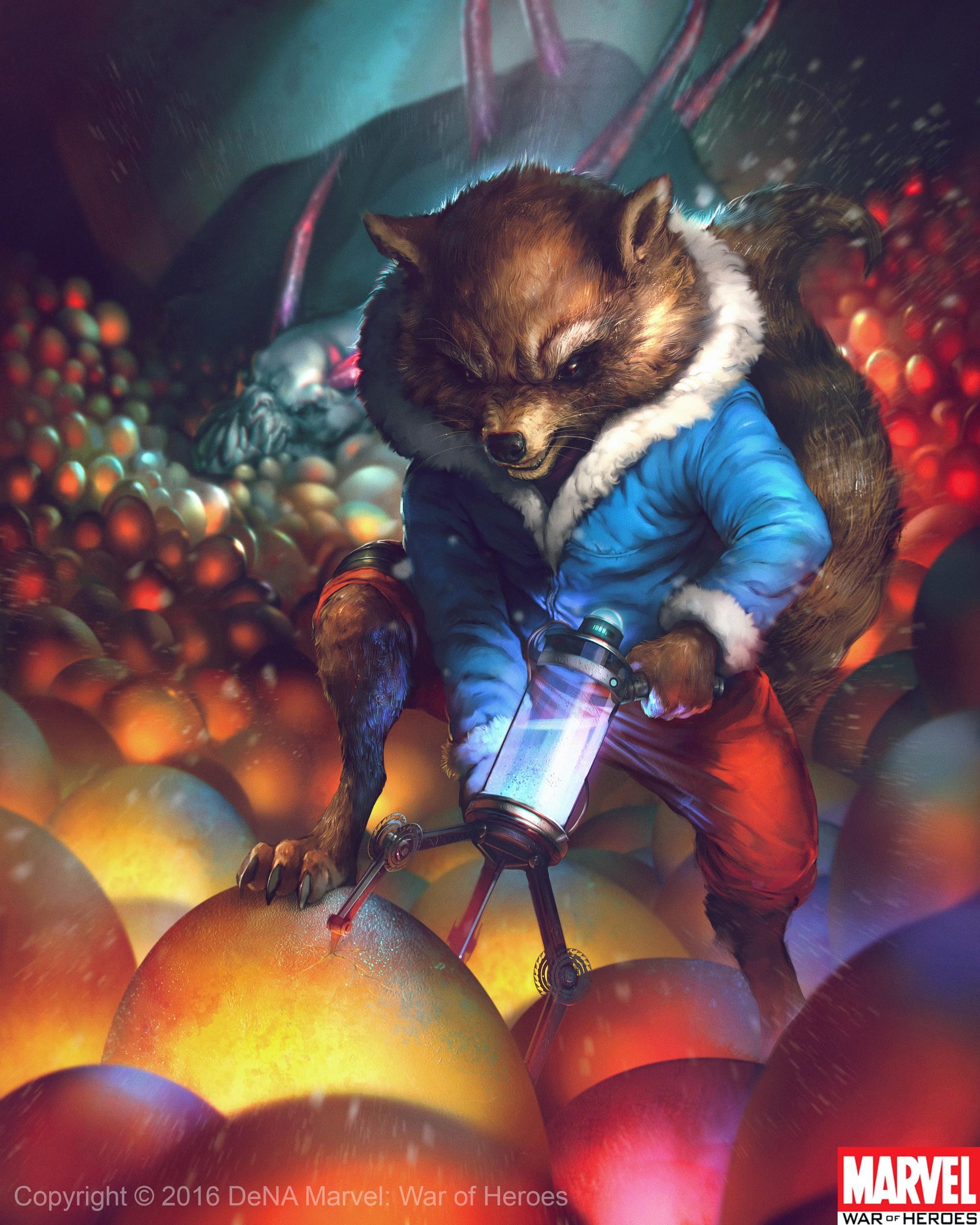 Denys tsiperko rocket raccoon evo3
