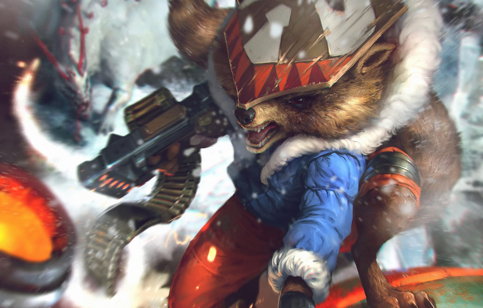 Denys tsiperko rocket raccoon evo3 2