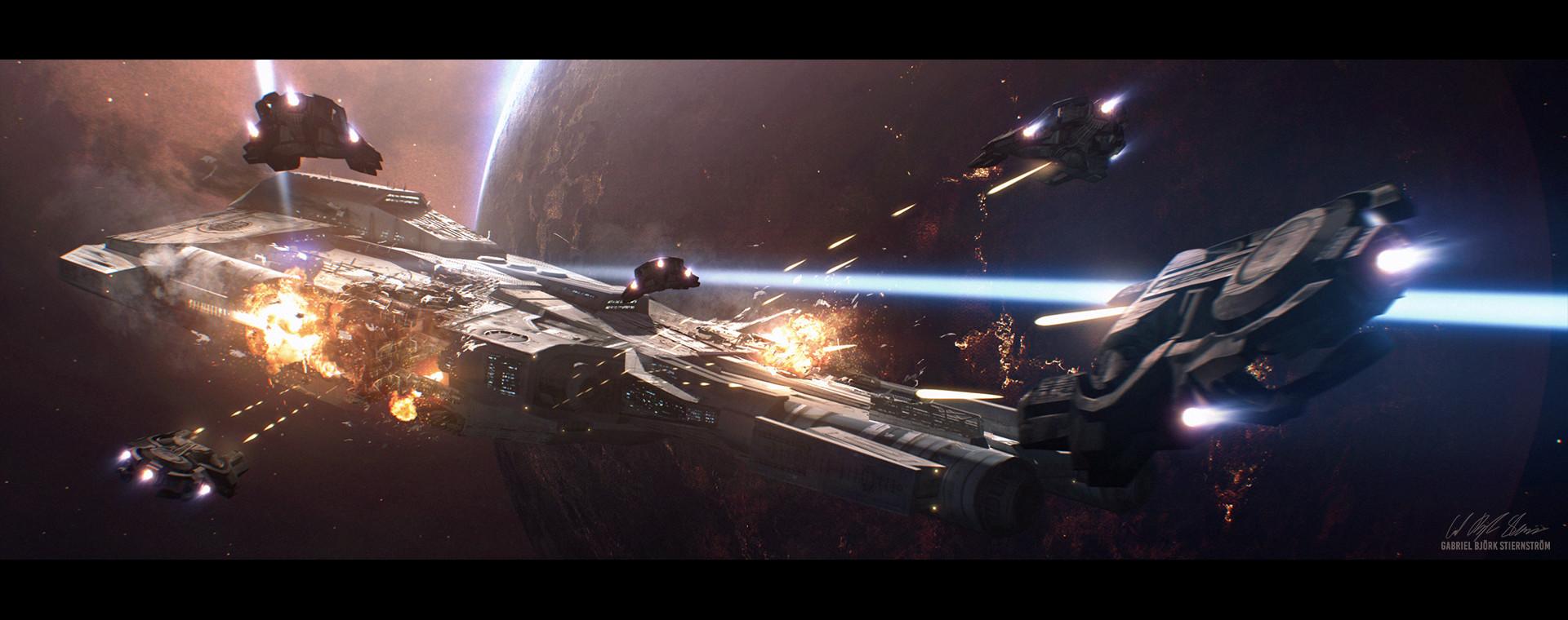 Artstation Hades Star Space Ships Gabriel Bjork