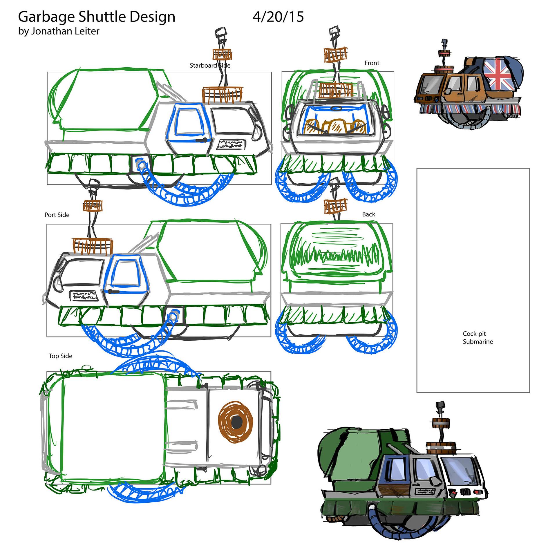 ArtStation - Shuttle Craft - Int. and Ext. Design, Jonathan Leiter