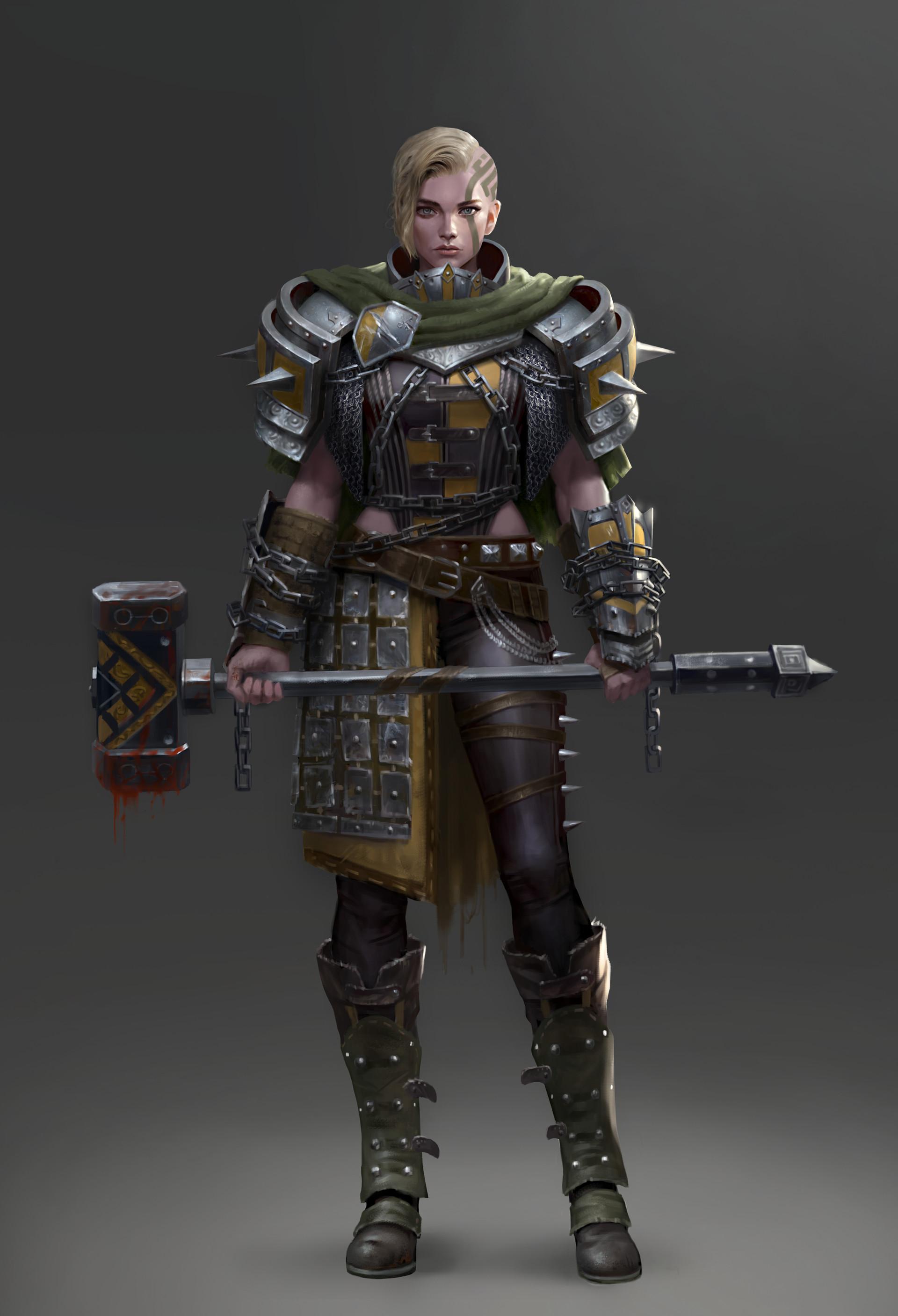 Character Design Masterclass Pdf : Artstation hammer warrior yoon seseon