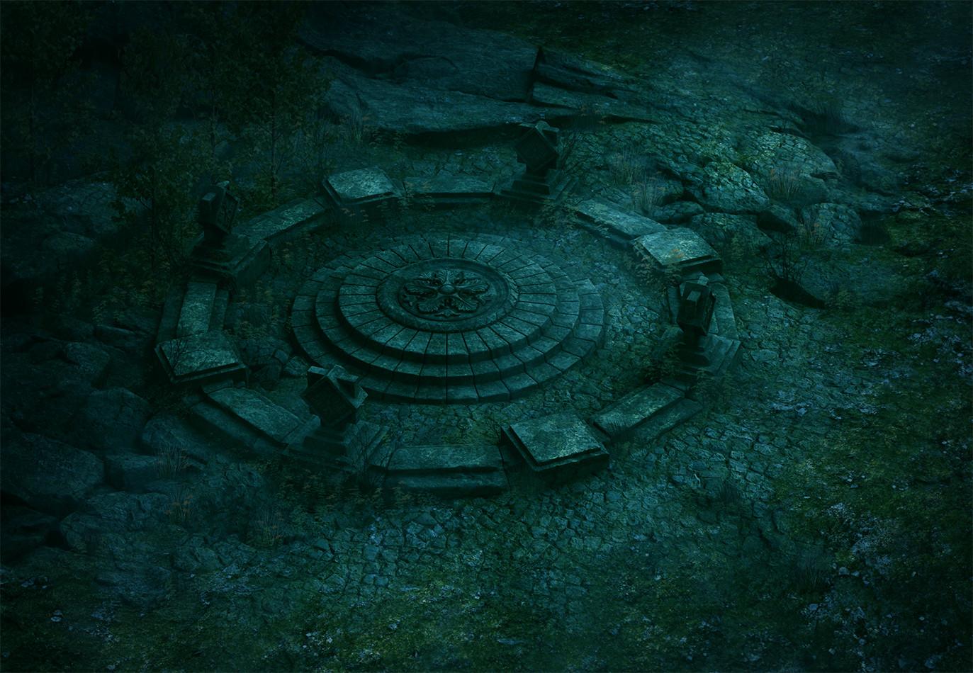 Ste flack stone circle night