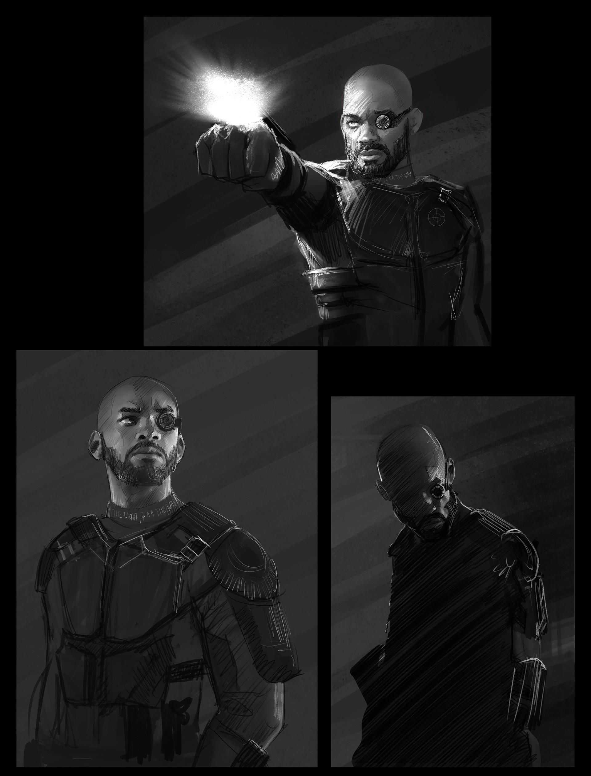 Suicide Squad Deadshot Concepts