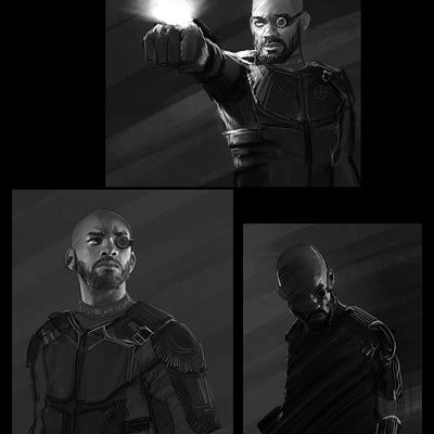 Andrew hunt suicide squx deadshot sketches