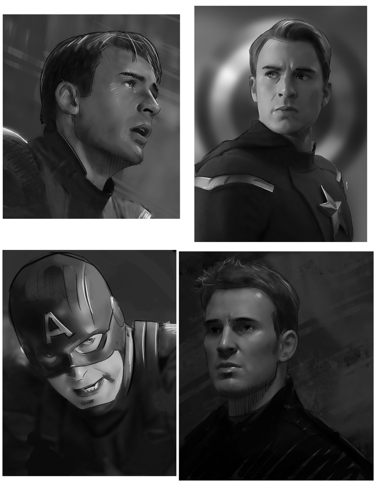 Captain America Sketches