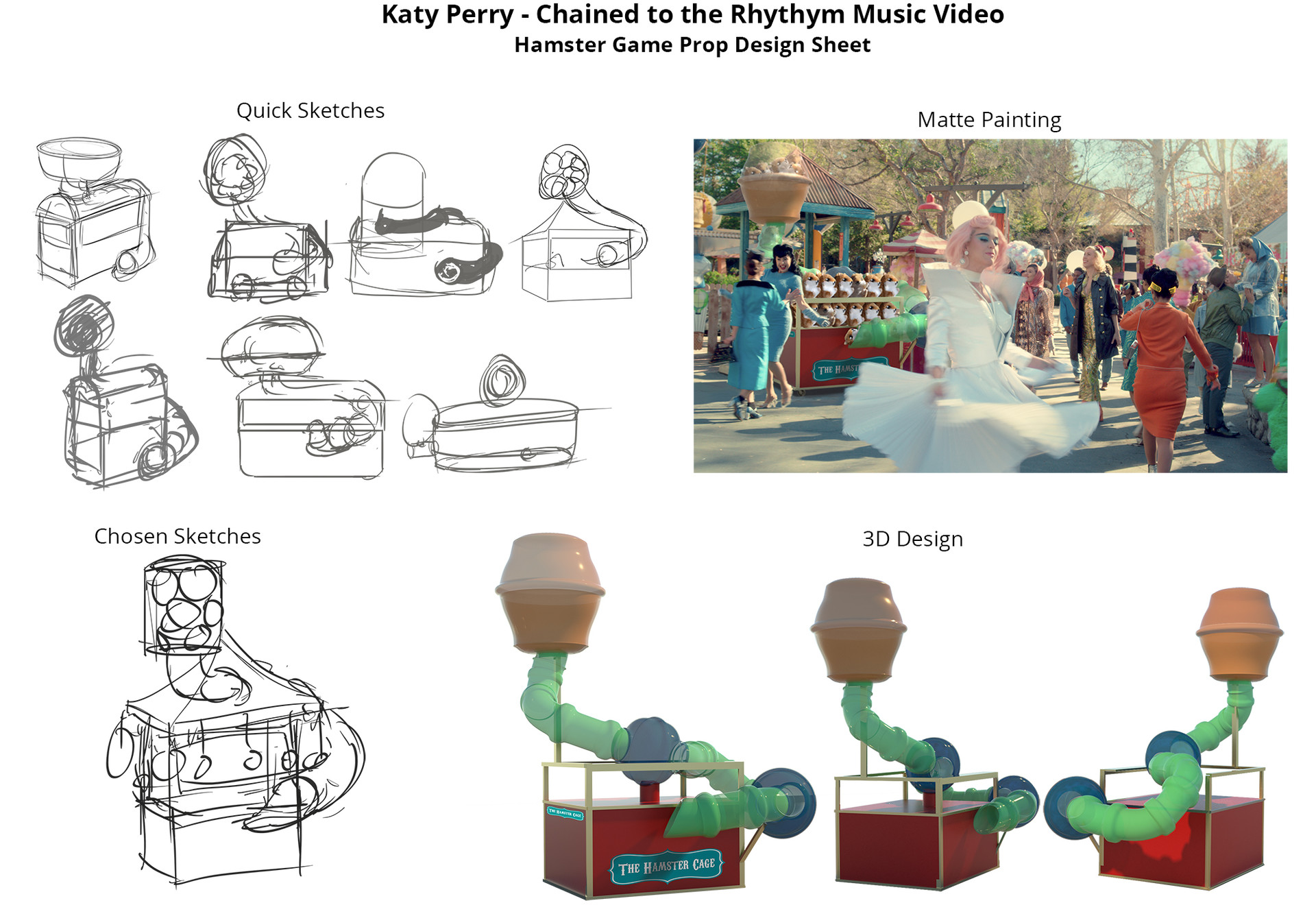 Katy Perry Chained to the Rhythm Music Video Plush Cart Design