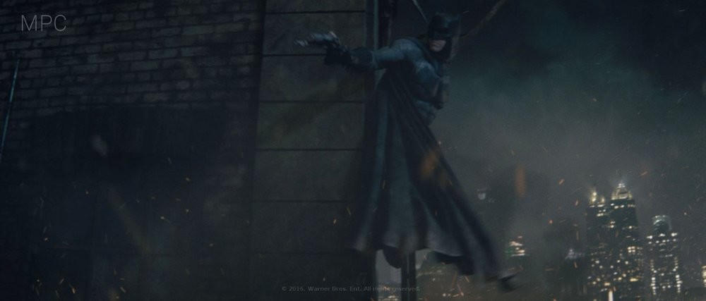 Responsible for lighting the shot (full CG) as well as look development on Batman and the building.