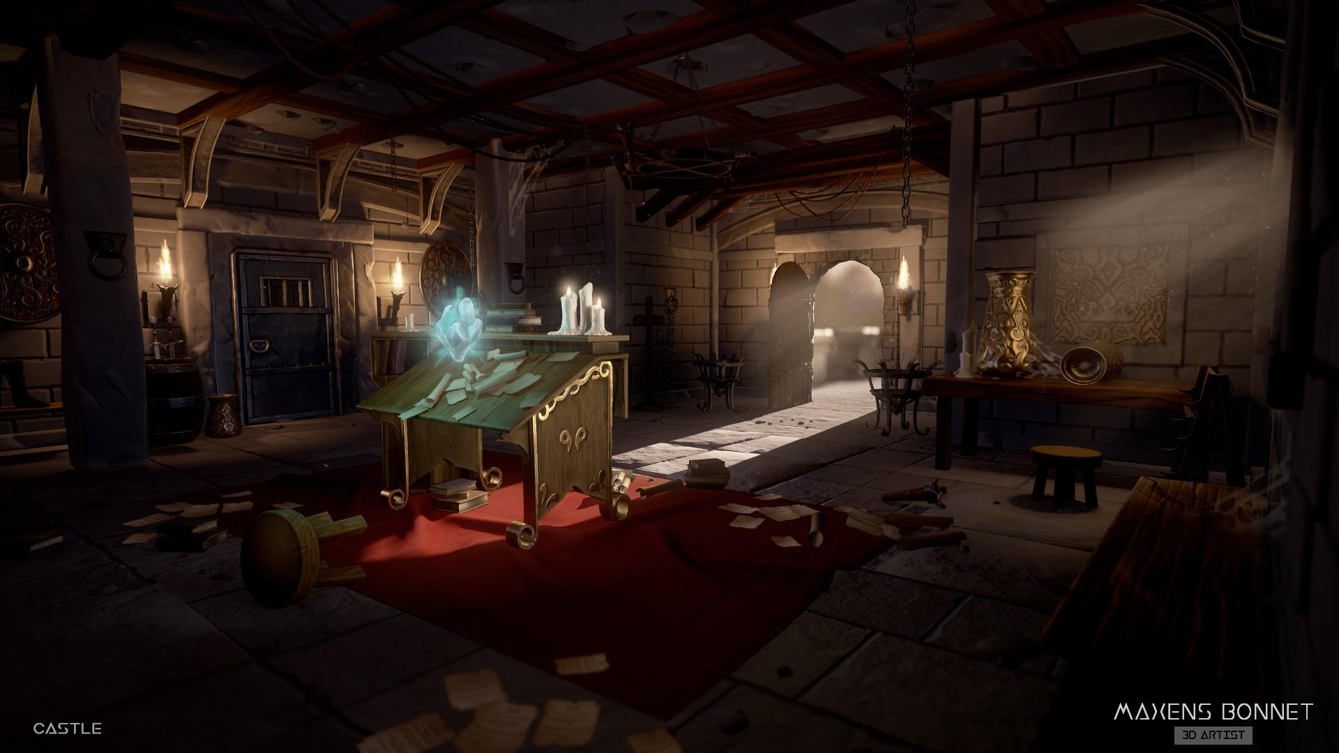 Maxens bonnet castle room