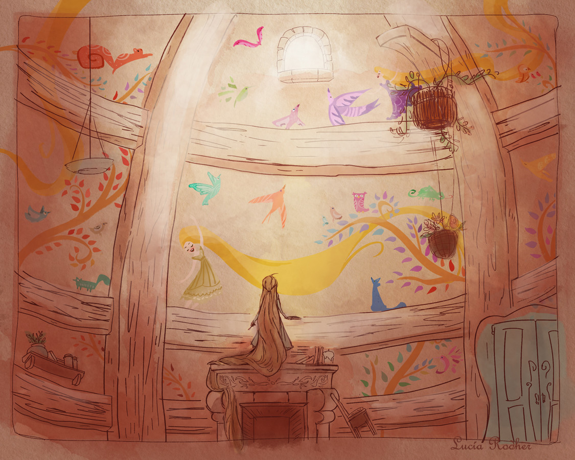 Tangled Concept Art Claire Keane