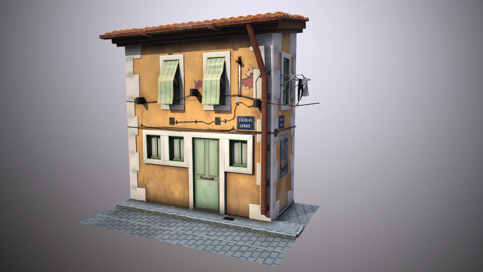 Lisbon House stylized
