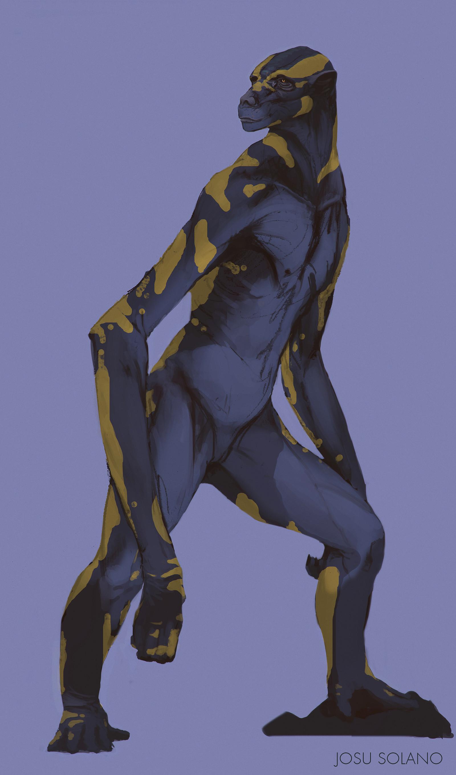 Josu solano humanoid sketch