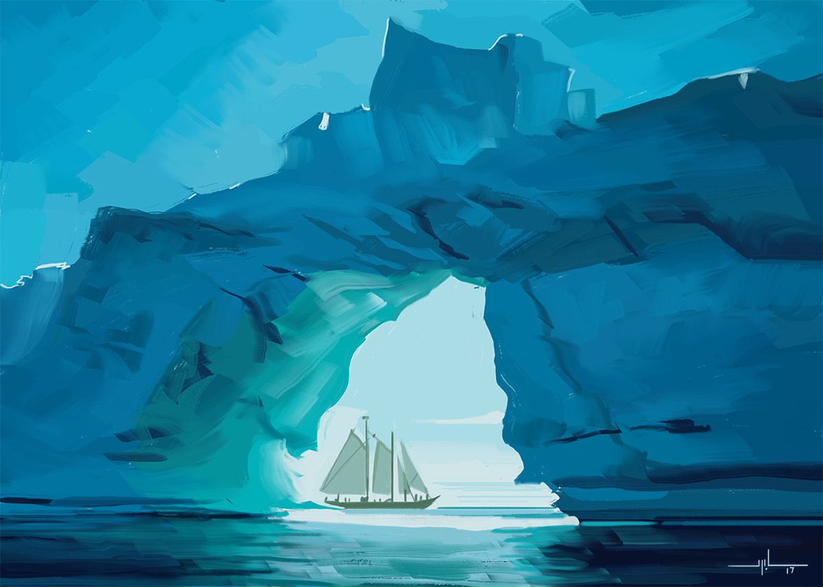 Yanni davros sailboat ice cave study day for web