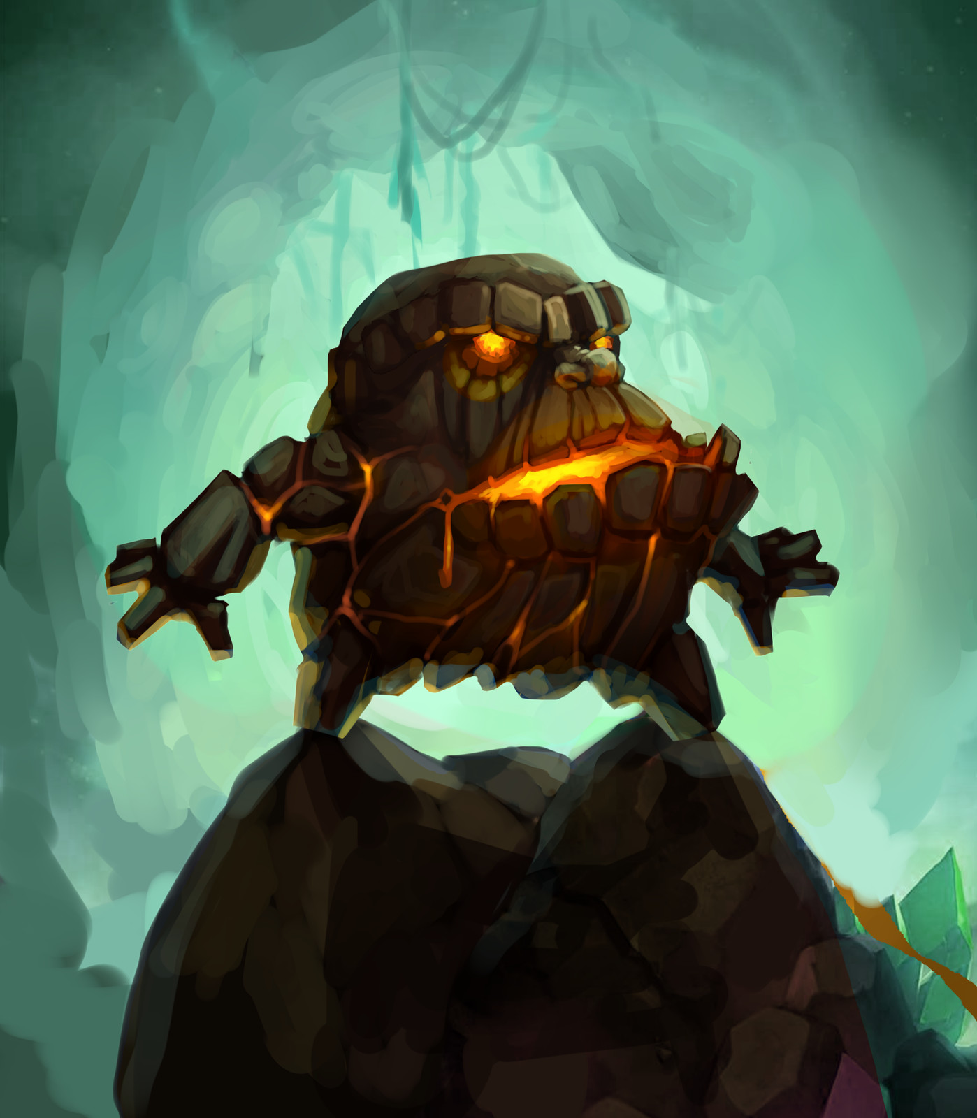 Molten Giant's head (WoW fan art)