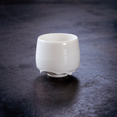 melted porcelain cup