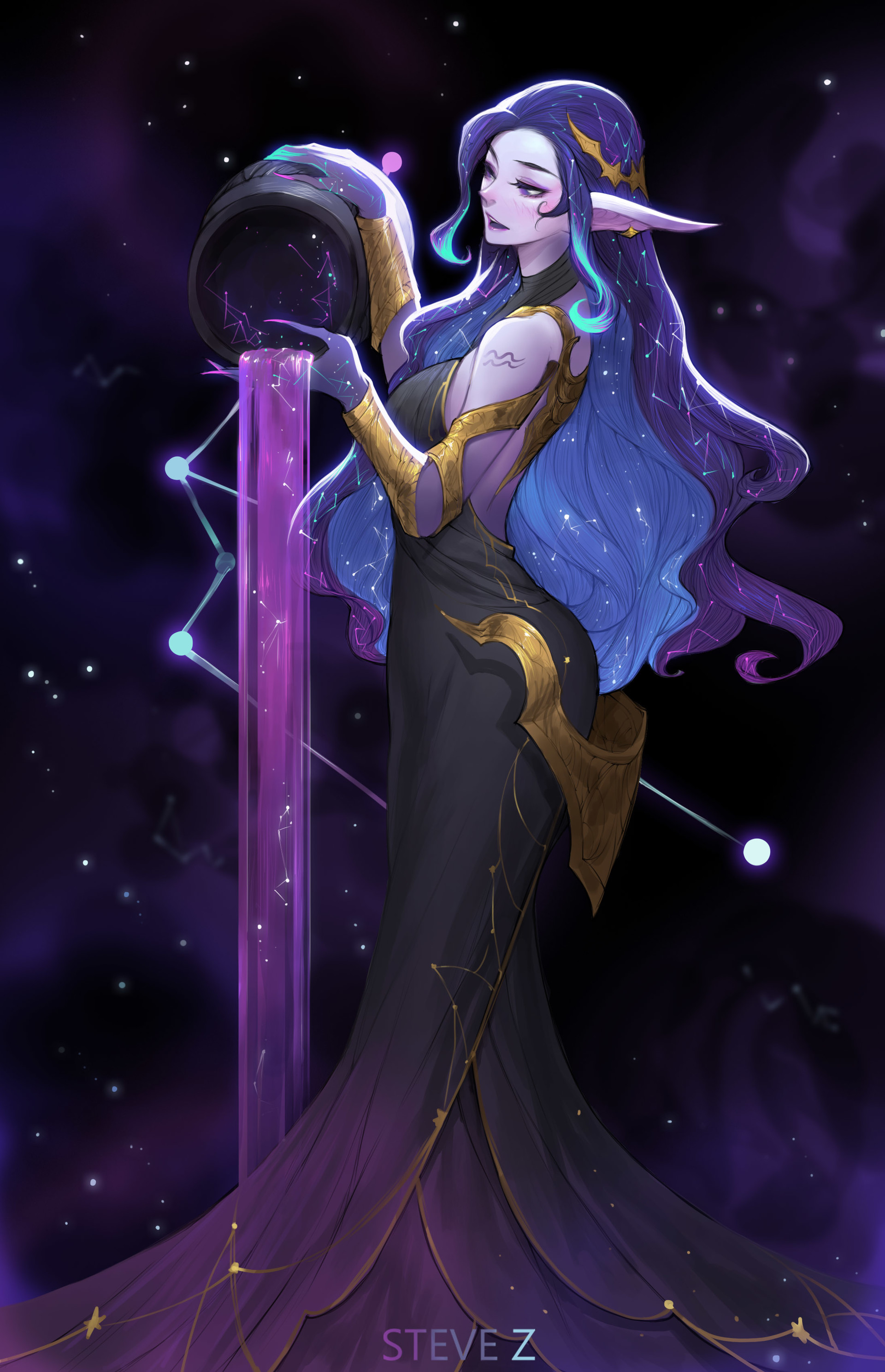 ArtStation - Galaxy-Aquarius, Steve Zheng  Anime Aquarius