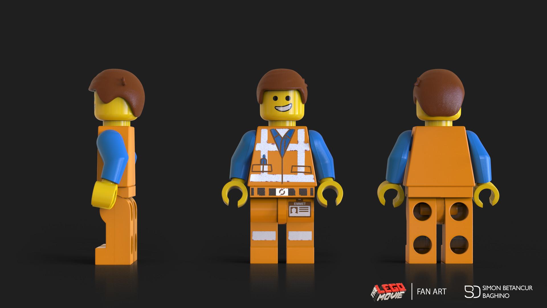 Artstation Emmet From The Lego Movie Fan Art Simon Betancur Baghino