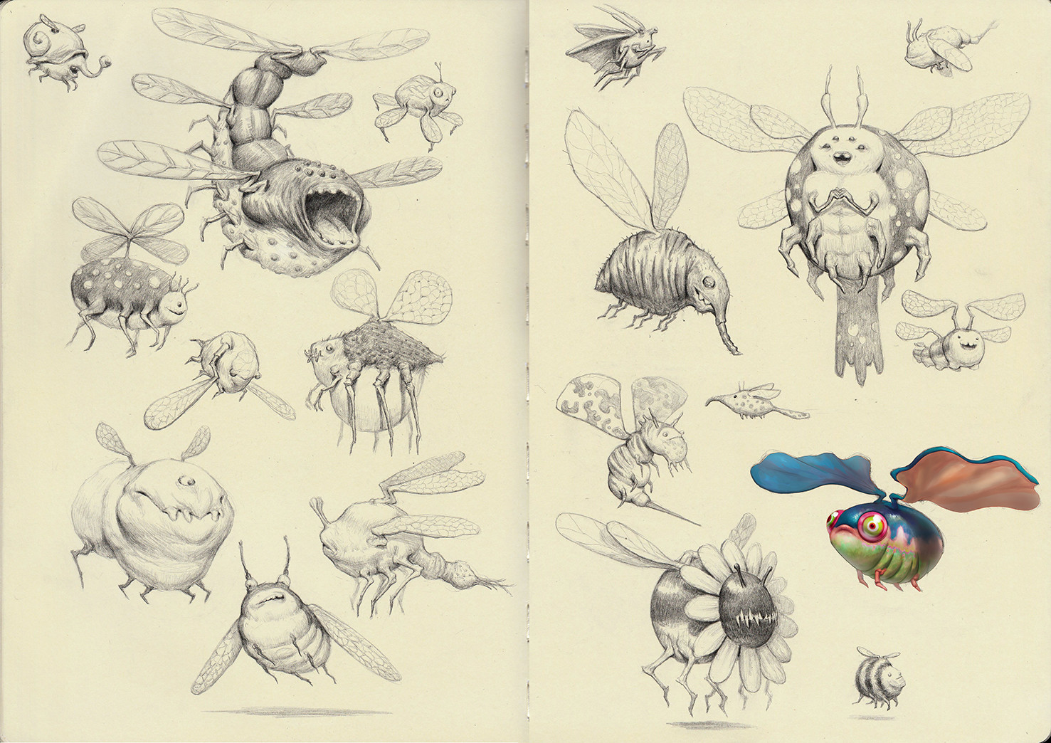 Creature Sketchbook pg 7-8