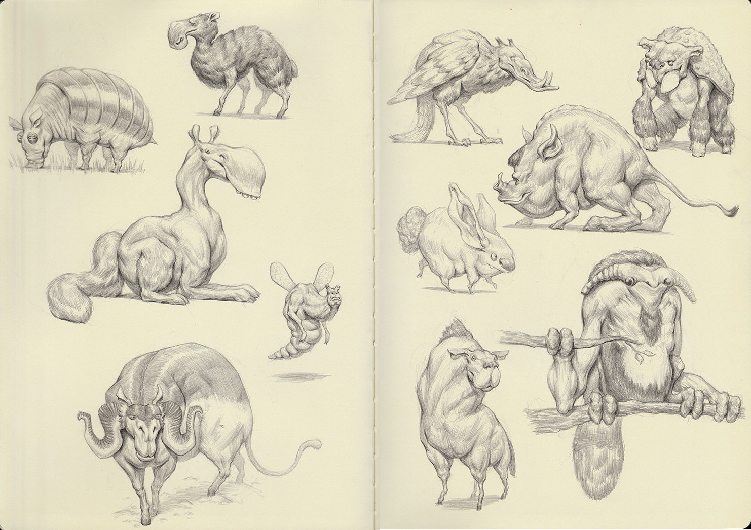 Creature Sketchbook pg 1-2