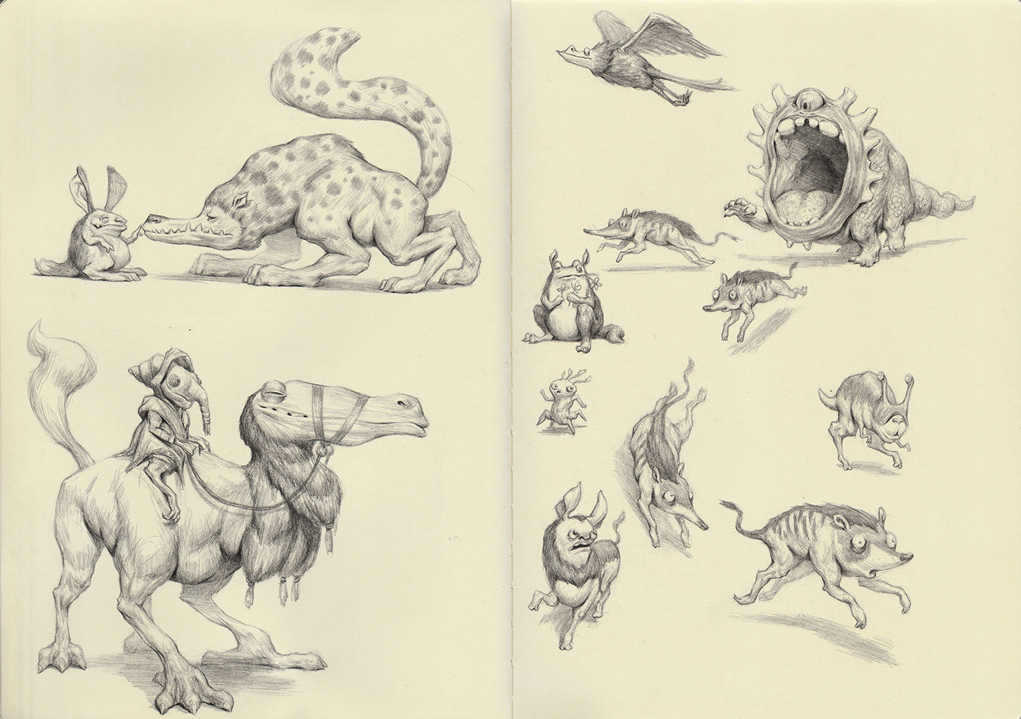 Creature Sketchbook pg 3-4