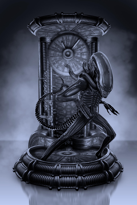 Adam milicevic alien render blue
