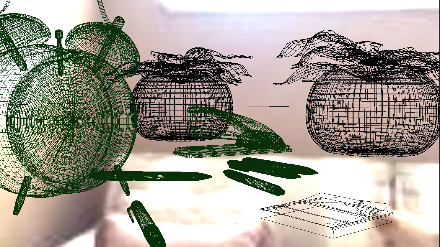 Viewport wireframe