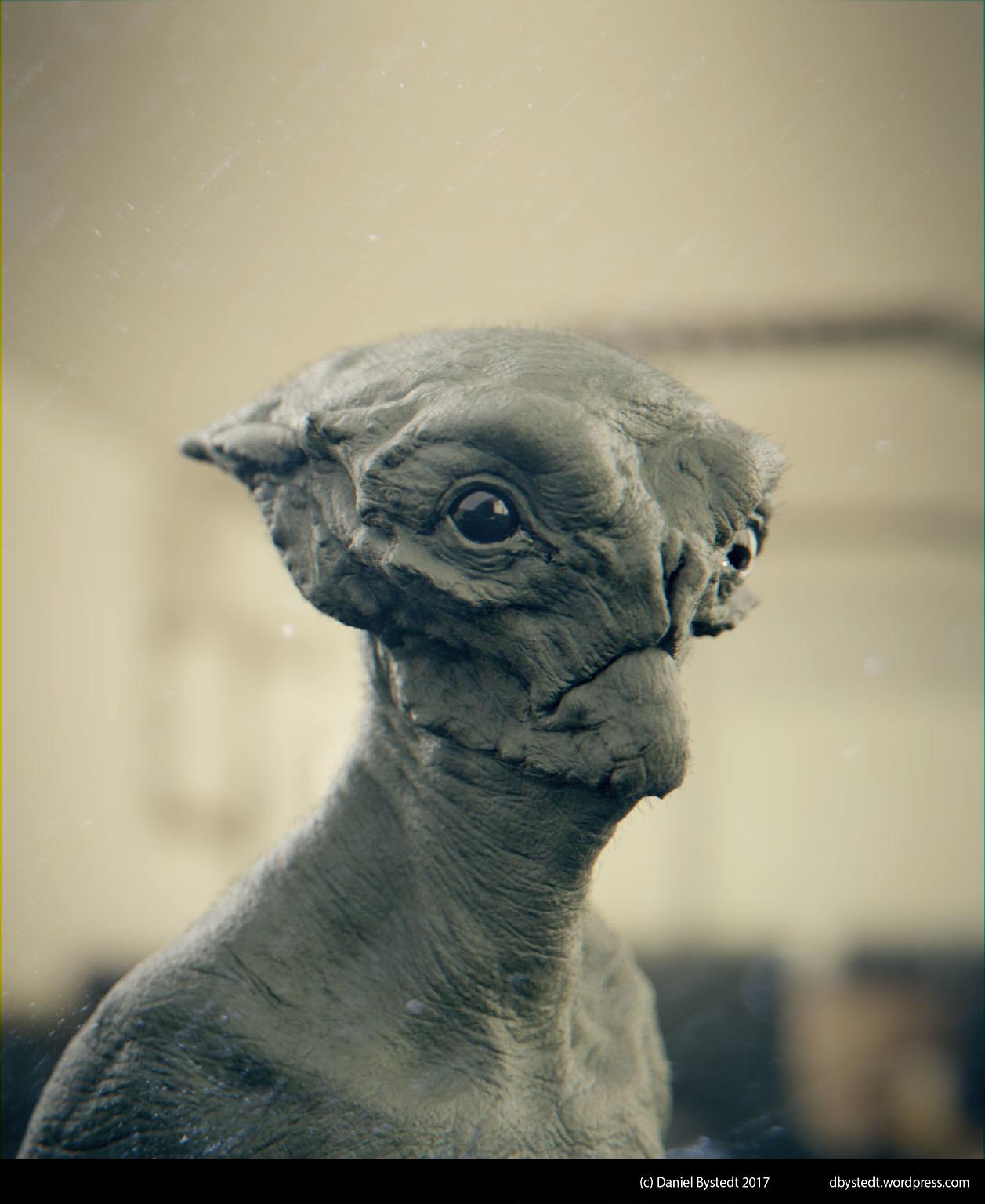 Daniel bystedt alien bust 2 clay