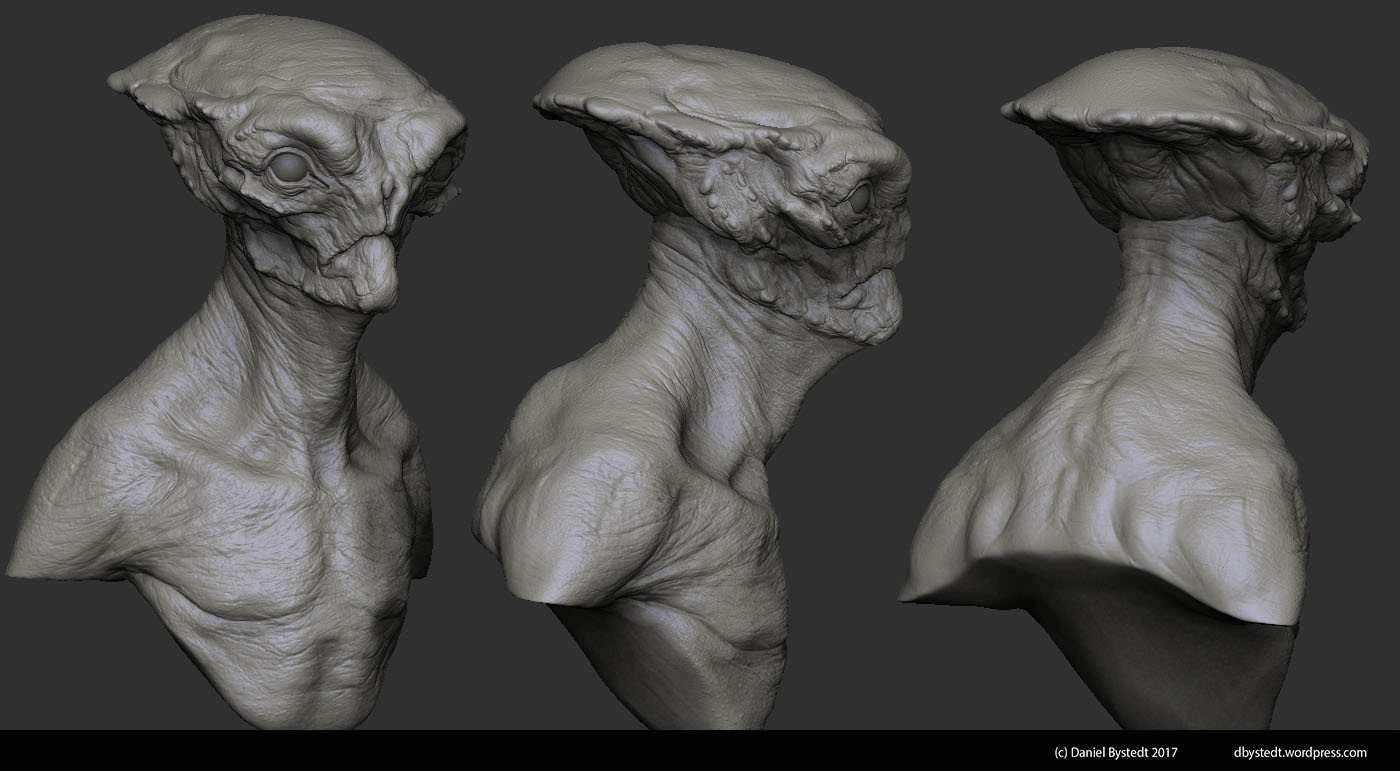 Daniel bystedt alien bust zbrush