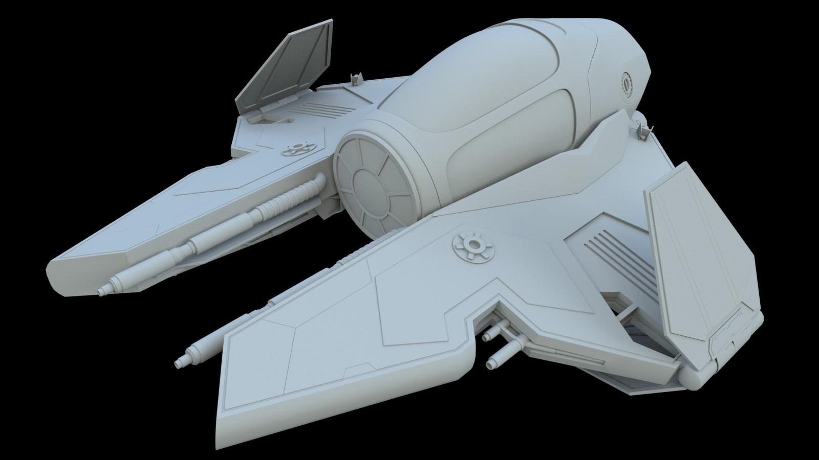 Arcadeous phoenix jedi interceptor stylized e