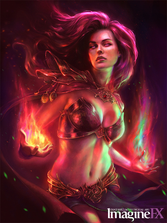 Sorceress ImagineFX cover