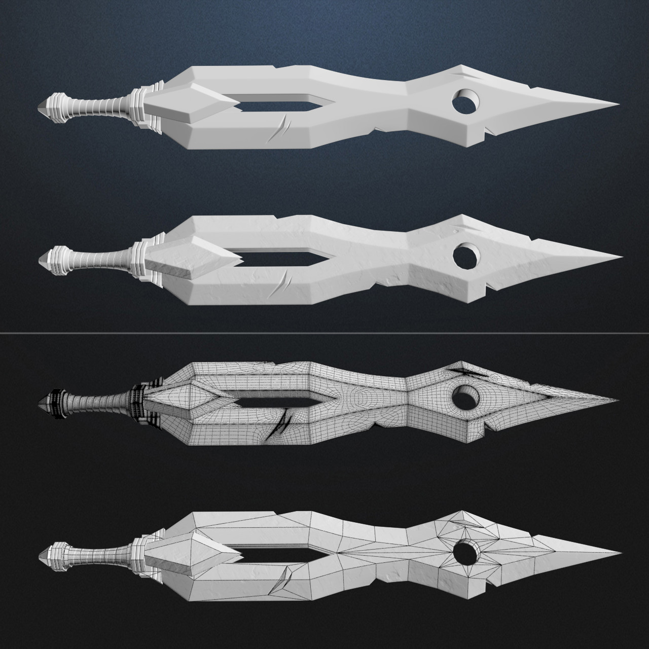 High poly to low poly comparisons