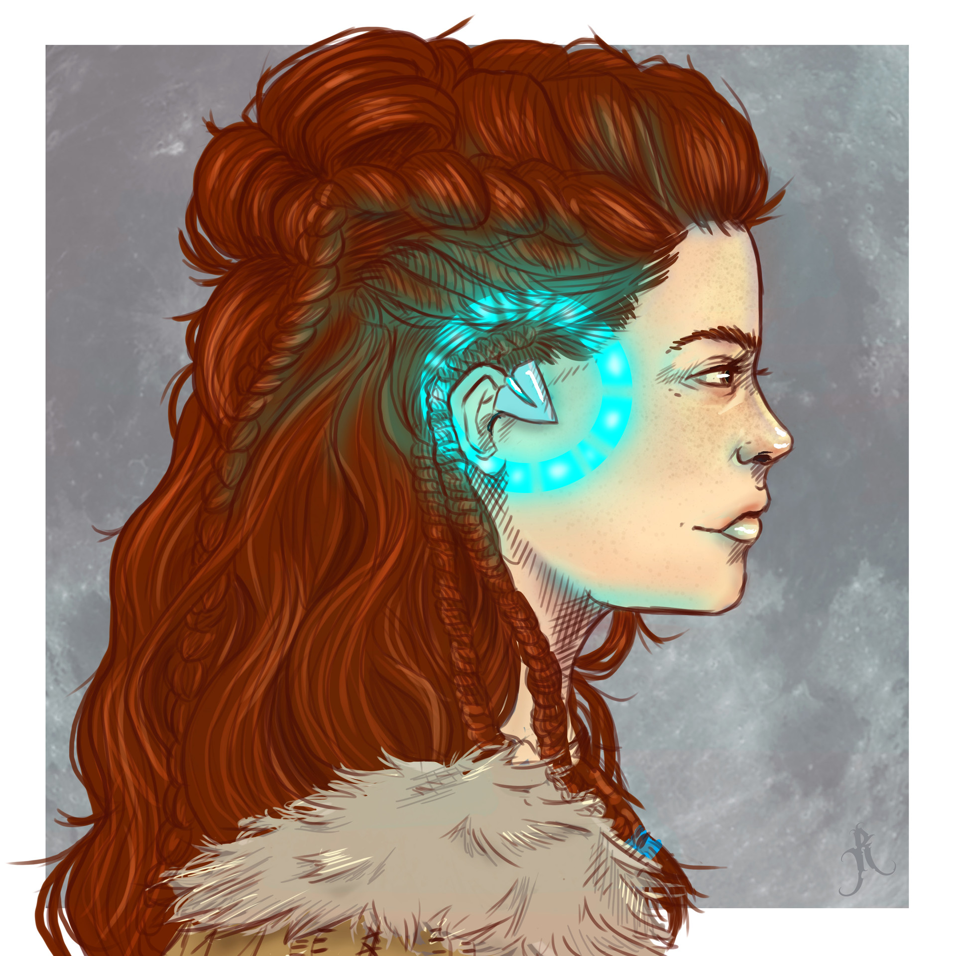 Artstation Aloy Horizon Zero Dawn Fan Art Rachelle Doornbos