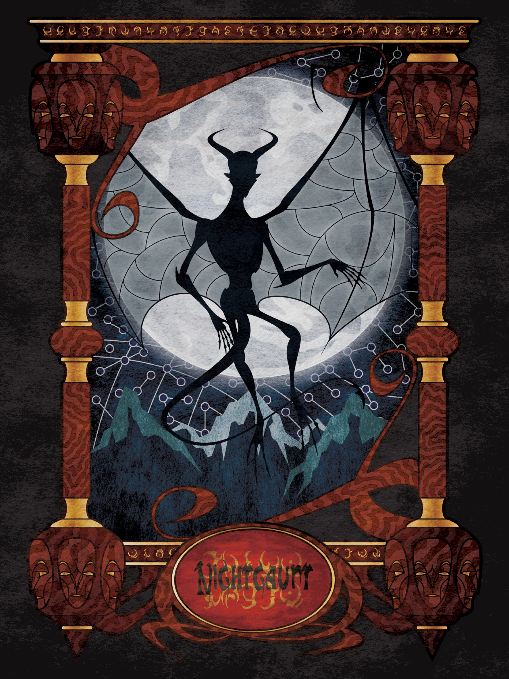 e8f5f4edab ArtStation - Lovecraftian bestiary for kids  Nightgaunt