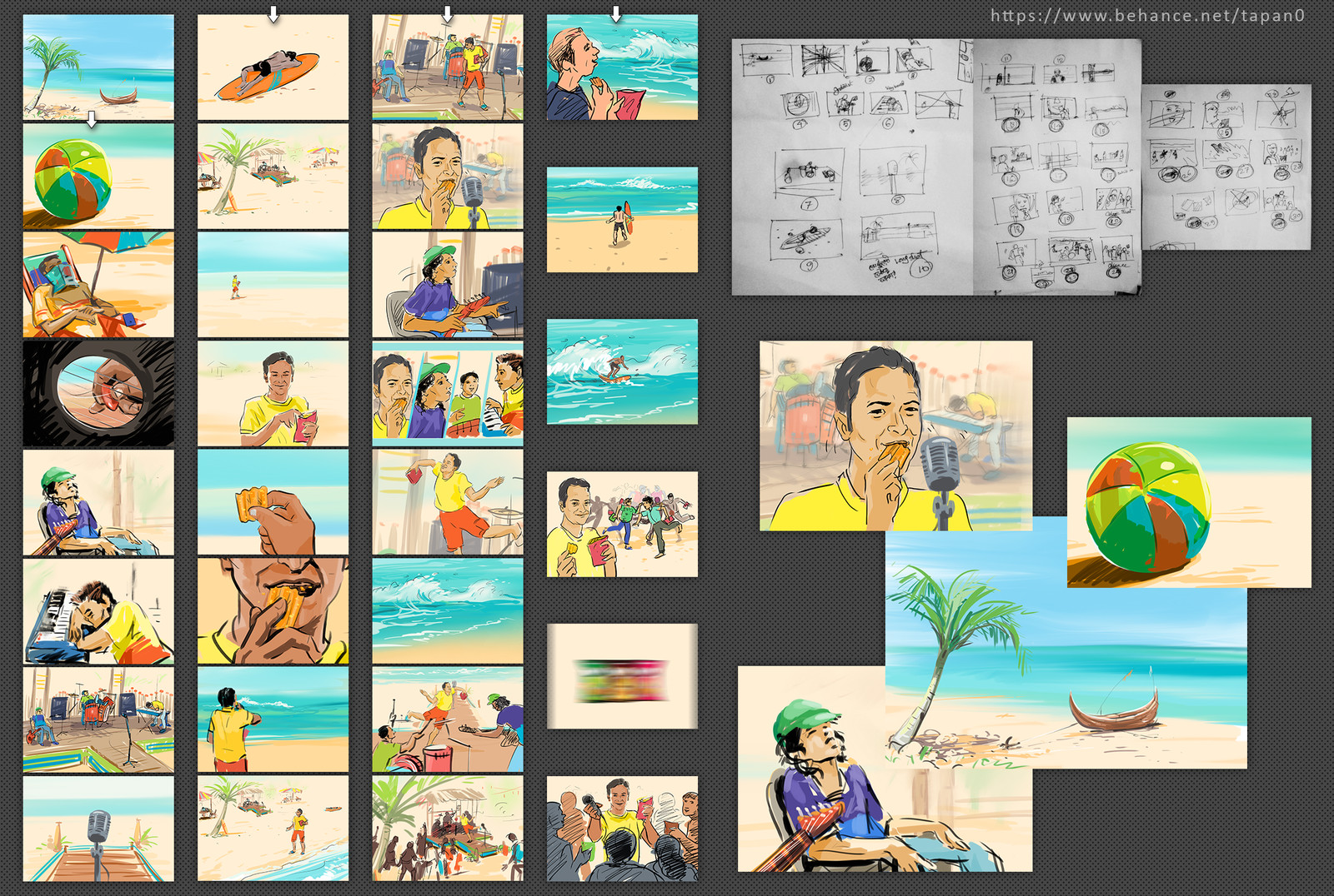 Storyboard sketch for TVC, Commissioned by film maker Mahathir Spondon