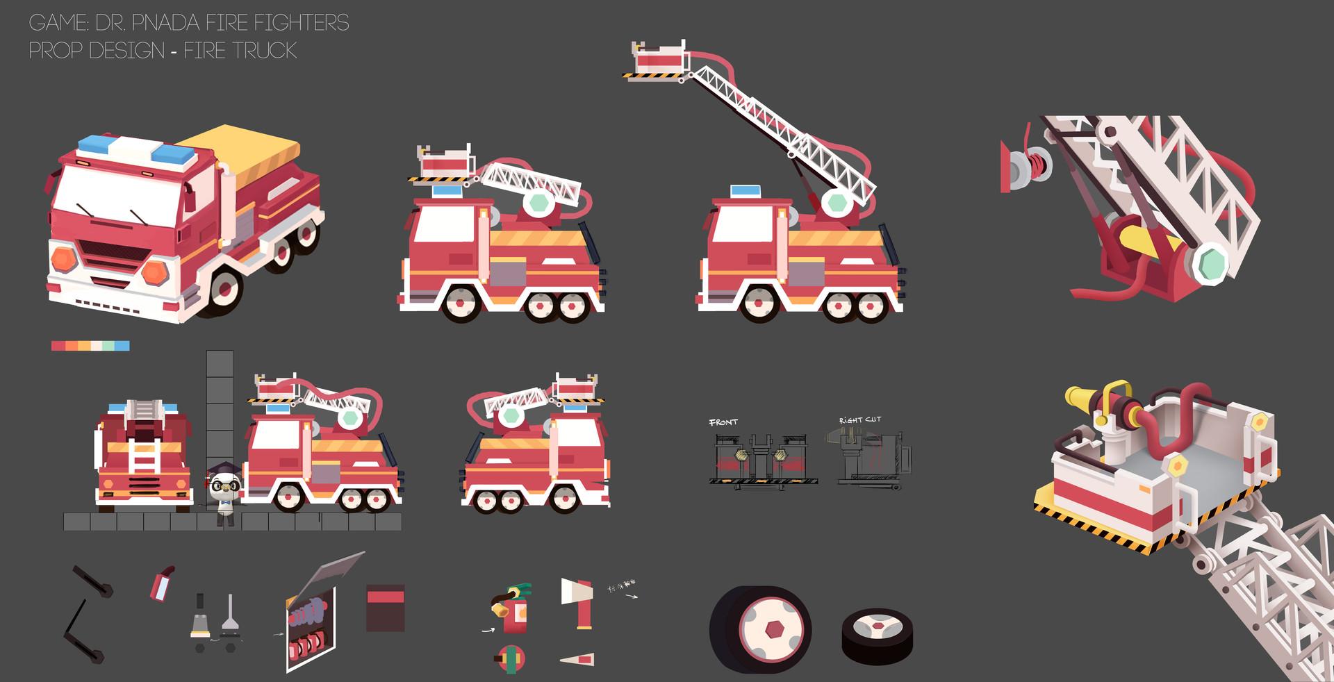 Thu phan artstation firetruck