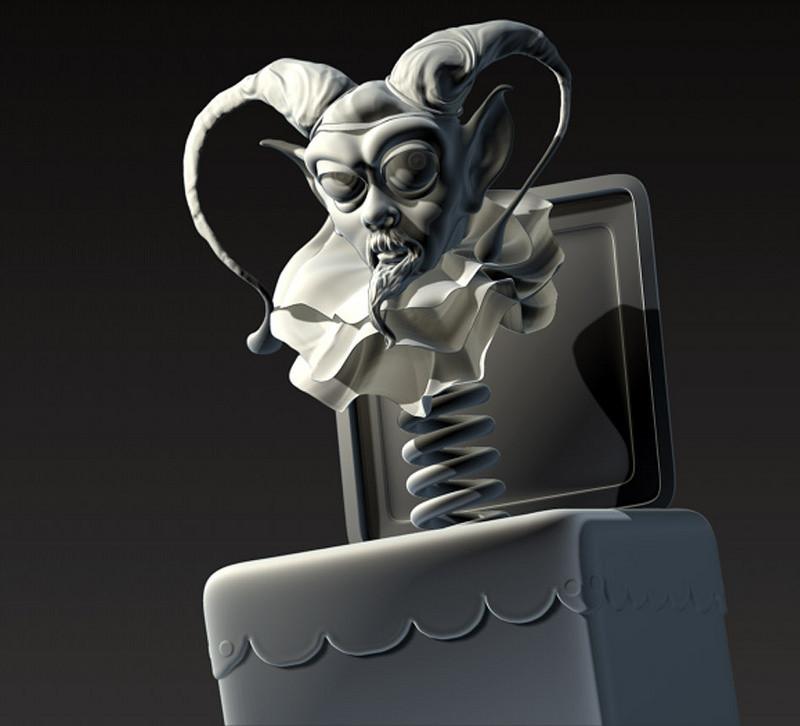 Grey hash jester
