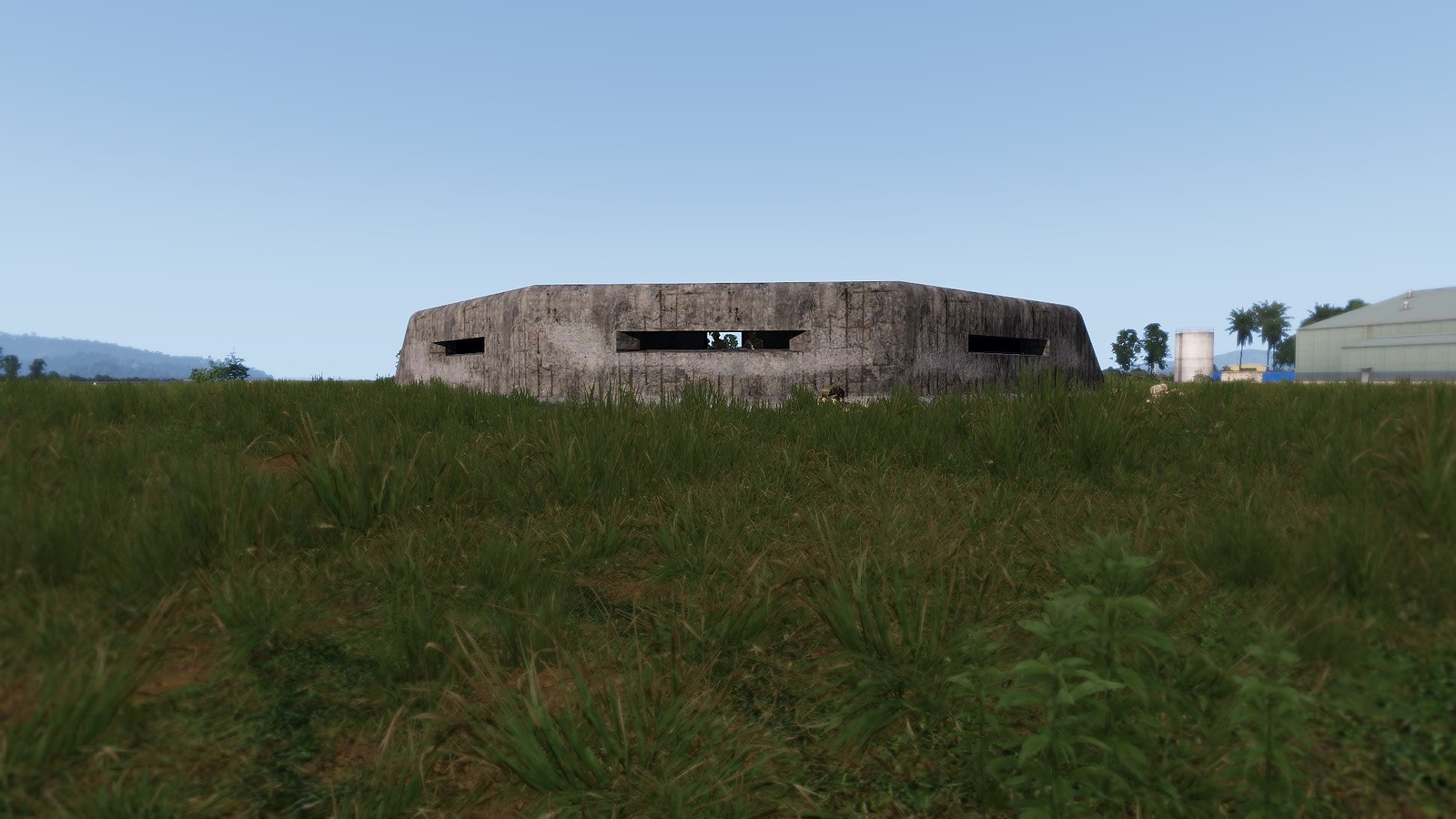 C Shaped Bunker front view