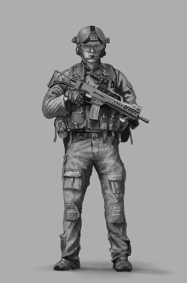 Gustavo torqueto modern soldier bw 3