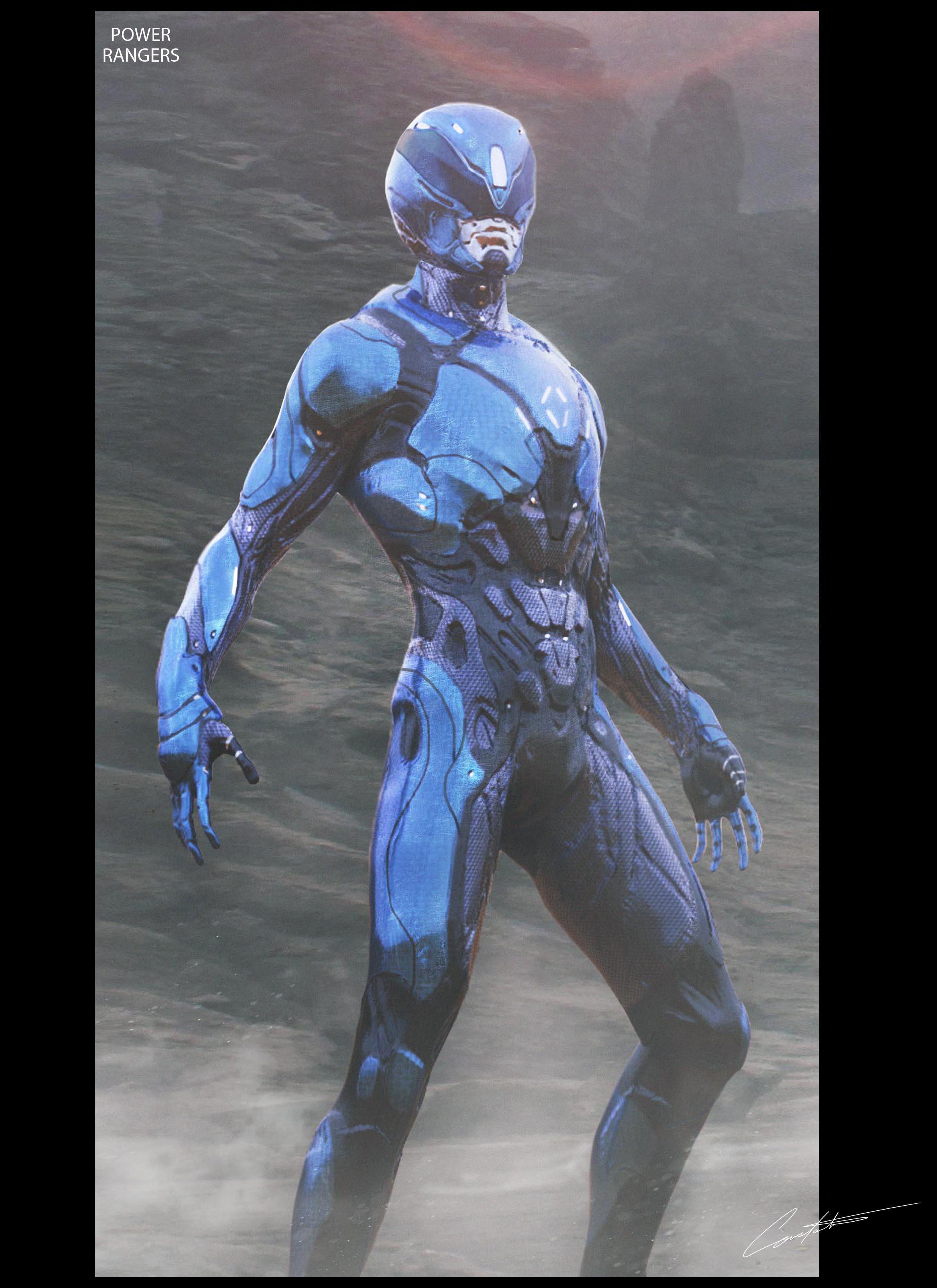 Power Rangers Blue Ranger Design