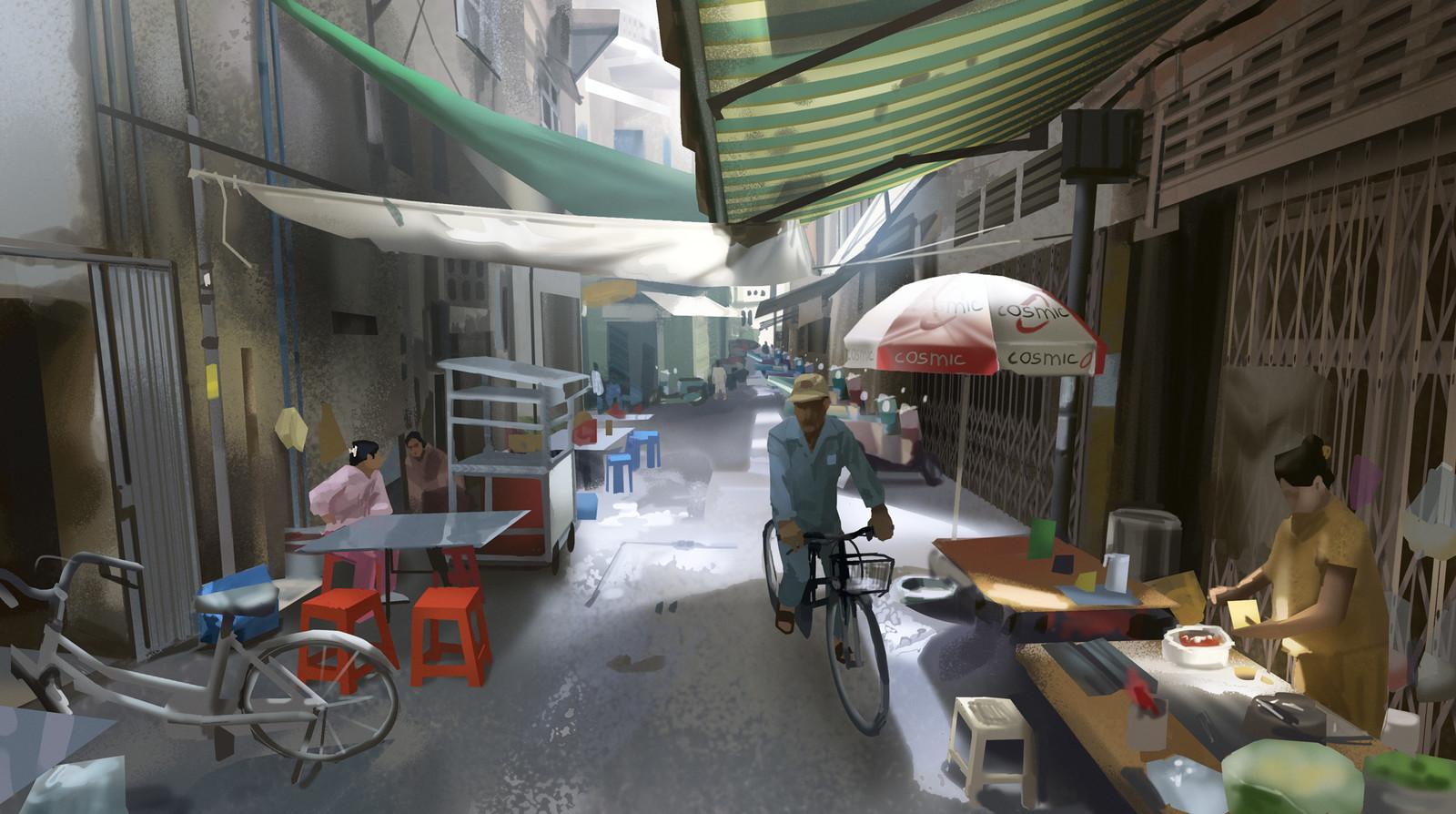 Phnom Penh - Bikes (+ process)