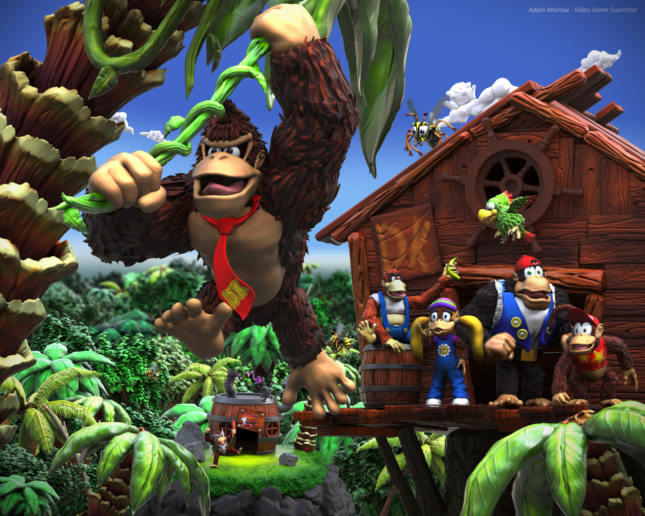 ArtStation - Another day for the DK Crew - Donkey Kong ...