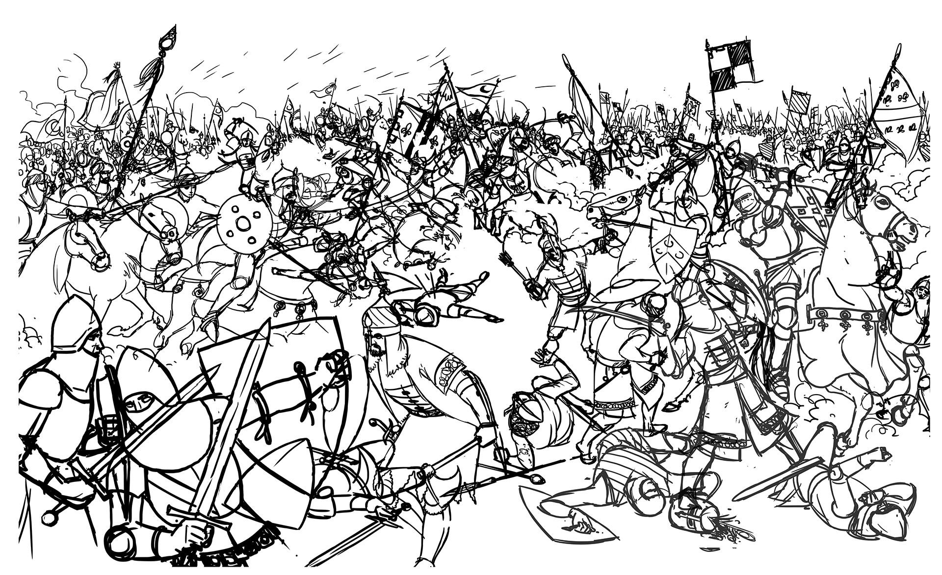 ArtStation - Medieval battles; historical illustration, Emir Durmisevic