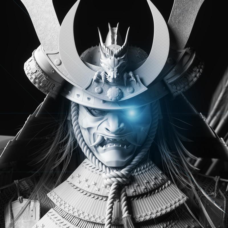 Minamoto no Yoshitsune - Clay renders