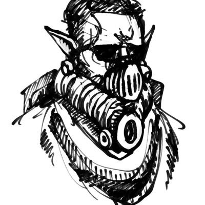 Joe bush gas mask