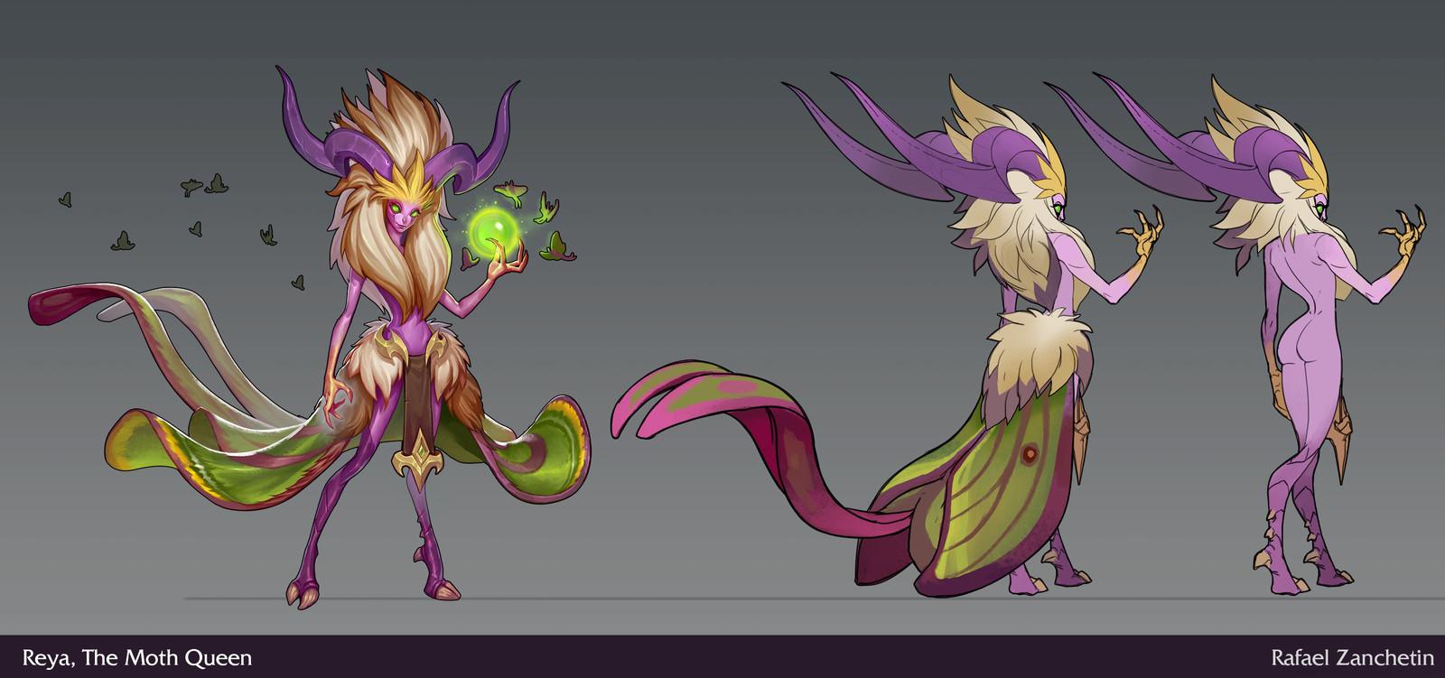 Reya, The Moth Queen.