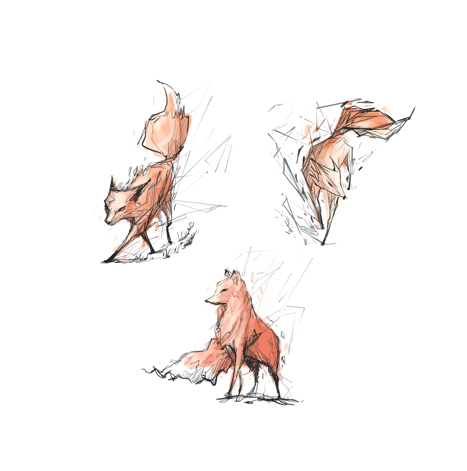 Christian benavides fox spirit sketches